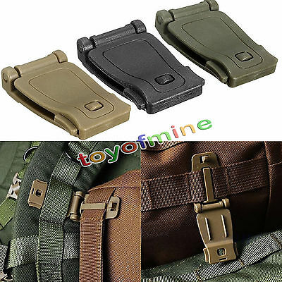 NEW Outdoor Molle Strap Backpack Bag Webbing Connecting Buckle Clip Accessorie