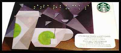 Starbucks Card Braille 2014 Canada Bilingual Coffee Tea Cups NEW UNUSED !