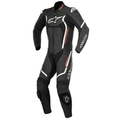 Alpinestars Mens Motegi-V2 1 Piece Race Suit - Red / Black / White Road Motorcyc