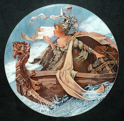 """Longton Crown Pottery """"The Man of Law's Tale"""" 1st Plate"""