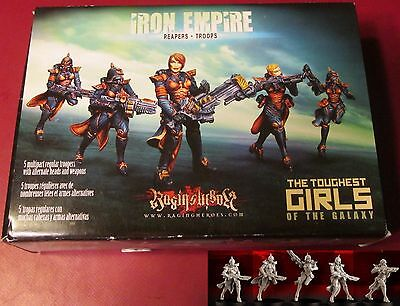 Raging Heroes 21420 Iron Empire Reapers Troops (5) Miniatures Female Infantry