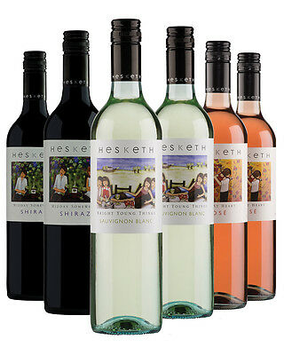 4 x Hesketh Rose, 4 x Hesketh Sauvignon Blanc, 4 x Hesketh Shiraz