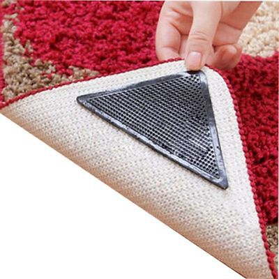 4x Rug Carpet Mat Grippers Non Slip Anti-skid Washable Clean Reusable Grips Pads