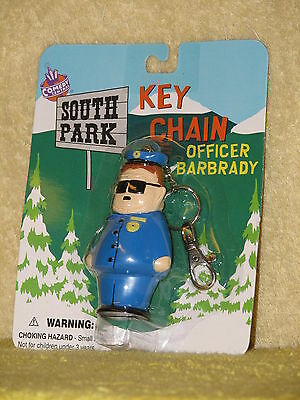 1998 Fun 4 All SOUTH PARK Officer Barbrady KEY CHAIN vintage MOMC ring keyring