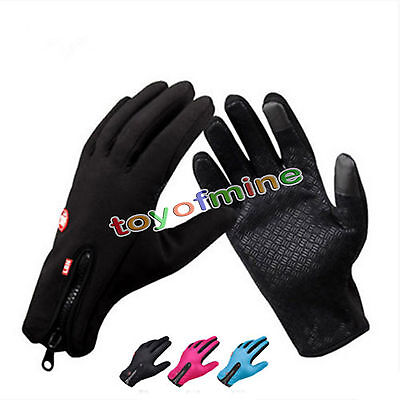 Unisex Fleece Windproof Winter Outdoor Cycling Gloves for SmartPhone Touchscreen