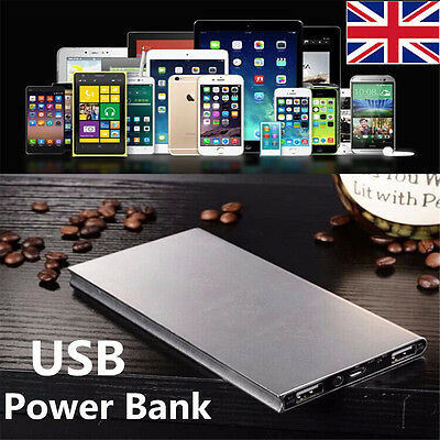 50000mAh Portable Power Bank Pack 2-USB Battery Charger For iPad Phone Samsung