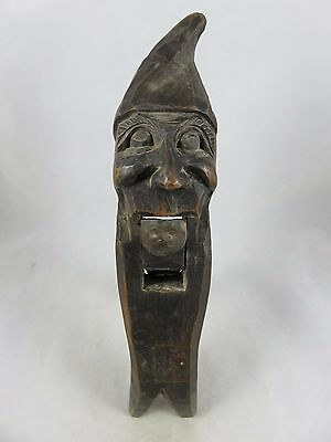 Vtg Black Forest Carved Wood - Man Elf Gnome Figural Figurine Nutcracker