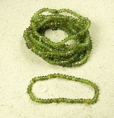 Peridot Armband,Button ca. 5-6 mm / ca. 19 cm