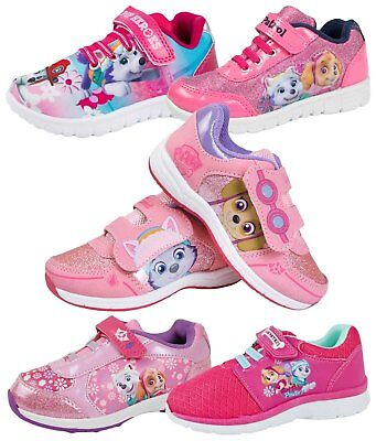 Paw Patrol Skye Sports Trainers Girls Glitter Skate Shoes Pumps Kids Size