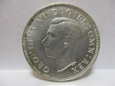 Great Britain 1942 2 Two Shillings Florin - Silver