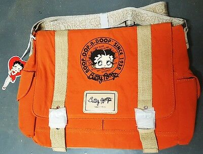 New BETTY BOOP Licensed Messenger Bag (Orange color) U.S. Seller
