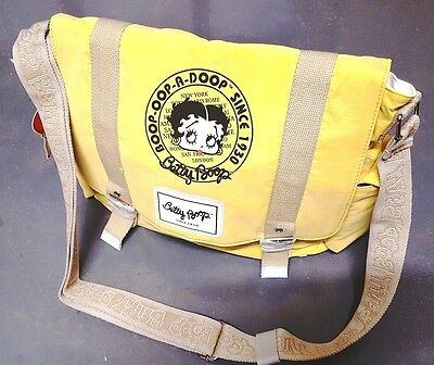 New BETTY BOOP Licensed Messenger Bag (Yellow color) U.S. Seller