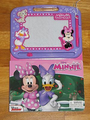 Disney Minnie Mouse Learning Series Book And Magnetic Drawing Board Fun!