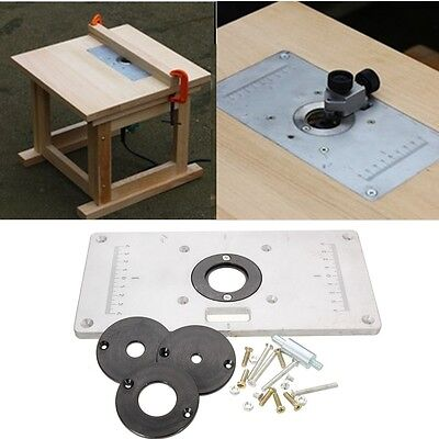 Aluminum Metal Sliver Router Table Insert Plate Insert Rings For Woodworking
