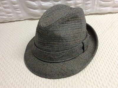 vintage dobbs fifth avenue mens fedora hat size 7 ~gray wool with satin lining