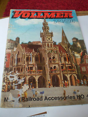 Vollmer Model Railways Toy Catalogue 1979/80 Uk Edition Fair/good For Age