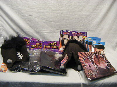 New Old Stock Costume Lot Hats Side Burns Wig Disguise Kit Theatre Halloween 4