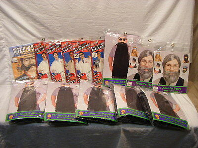 New Old Stock Costume Lot Disguise Kits Doctor Beards Theatre Halloween 5