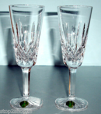 Waterford Lismore Champagne Flutes Set of 2 #154040 60th Anniversary NEW