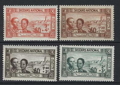 "Tunisie - Série ""Secours National""  :  4 timbres neufs ** - cote  6 €"