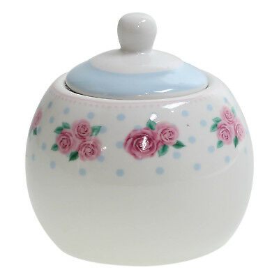 Porcelain Sugar Pot Bowl Storage Container With Lid In Afternoon Tea Design New