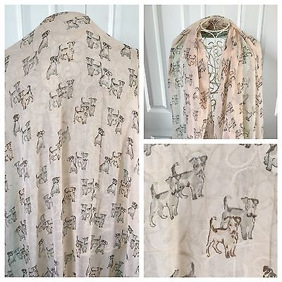Jack Russell Terrier Dog Scarf Shawl New Large Peach Cute Gift