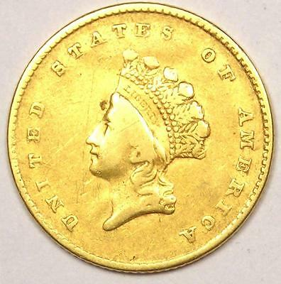1854 Type 2 Indian Dollar Gold Coin (G$1) - XF Details - Rare Type Coin!