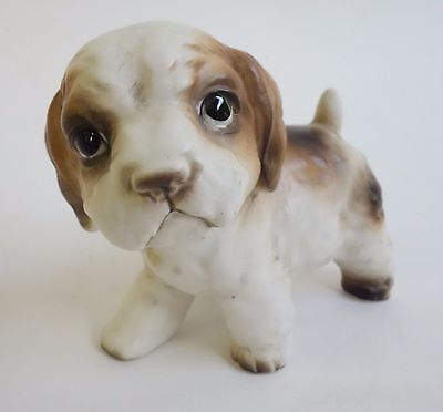 VINTAGE WIRE FOX TERRIER PUPPY DOG FIGURINE CERAMIC PORCELAIN JAPAN Numbered