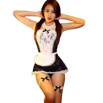 846  Costume cosplay lingerie sexy-cosplay-nuisette-nuit-costume servante
