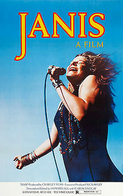 JANIS .. a film about JANIS .... Classic Biopic Movie Poster A1A2A3A4Sizes