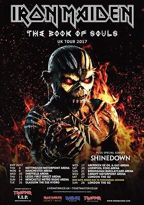 IRON MAIDEN The Book Of Souls 2017 UK Tour PHOTO Print POSTER Shinedown World 56
