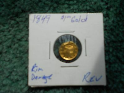 1849 Liberty One Dollar Gold