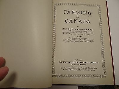 1946 Cockshutt Plow Company Book Farming In Canada