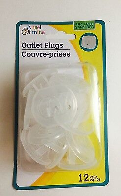 12 Count Electrical Socket Outlet Plug Covers Child Safe for Baby Safety