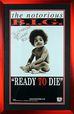 Notorious B.I.G. Authentic Signed & Framed 18x32 Ready To Die Poster BAS #A03210