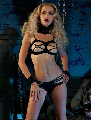 Completino intimo Sexy set lingerie donna intimo notte due pezzi + polsini HOT