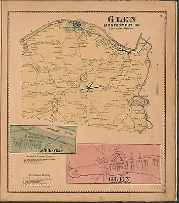 1868 MONTGOMERY FULTON COUNTY NEW YORK state maps old GENEALOGY Atlas DVD P17
