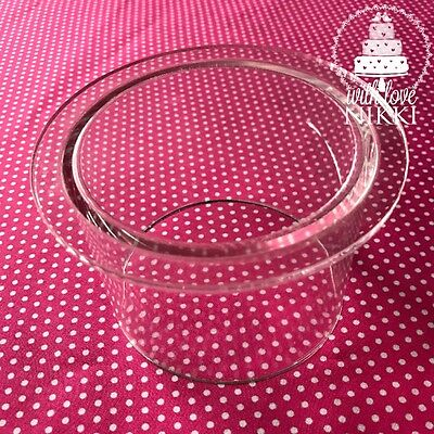 "ACRYLIC CAKE SEPARATER CYLINDER TUBULAR Clear Stand 4""  Wedding Tier Sugarcraft"