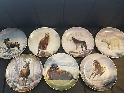 7 Perillo's North American Wildlife Plate Collection w/ COA's on back of Plates