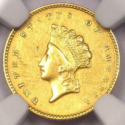 "1855-O Type 2 Indian Gold Dollar (G$1 Coin) - NGC AU Details - Rare ""O"" Mint!"