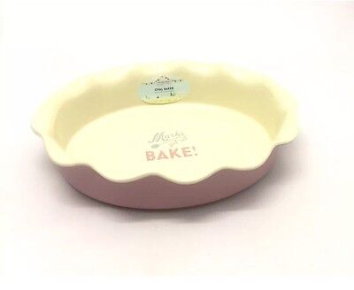 Official Great British Bake Off Pink Ceramic Large Oval Baker / Pie Dish.