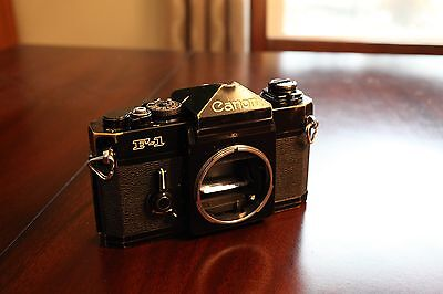 Canon F-1 35mm SLR Film Camera Body Only NEW LIGHT SEALS TESTED