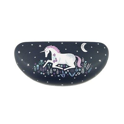 Sunglasses Hard Case Unicorn Blue Navy White Reading Glasses Storage Box Travel