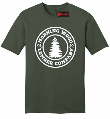 ddb1d1d611 Morning Wood Lumber Company Funny Mens Soft T Shirt Sexual Work Party Tee Z2
