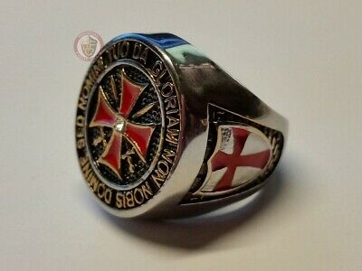 Templar Knights Signet Ring - Stainless steel Size 12 - (X½ - 67.2mm)