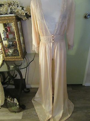 Vintage Pink Lacy Peignoir Robe From About 60's About Sz Medium