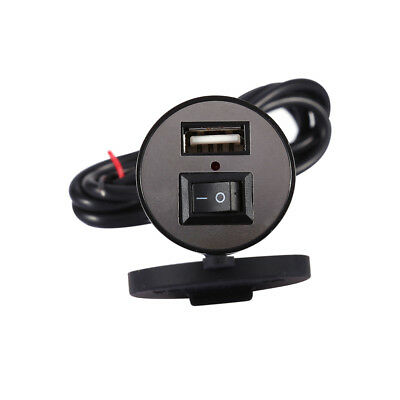 Motorcycle Phone USB Charger Power Supply Adapter Port Socket 12V Waterproof
