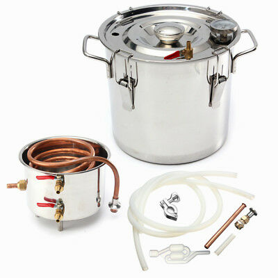 10-30L 2-8Gal Alcohol Ethanol Moonshine Water Copper Stainless Boiler Distiller
