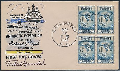 #753 Blk/4 On Tordel Gundel Fdc Cachet Handpainted And Signed Cover Bt6628