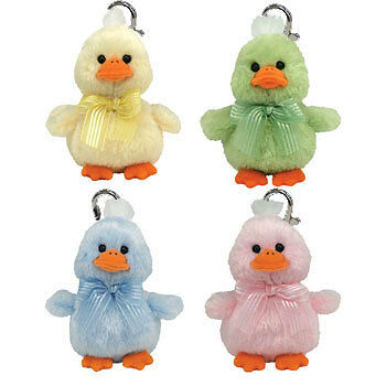 TY Basket Beanie Babies - Easter 2009 set of 4 (UK Exclusives w/Metal Key Clips)